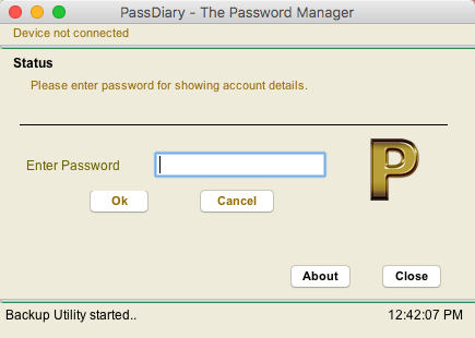 passdiary backup utility